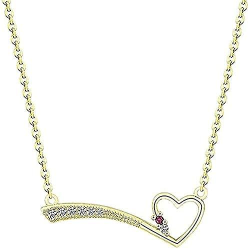 Collar Fashion Meteor Heart Colgante Collar con dijes para mujer Joyería de fiesta Gargantilla de cadena Regalos de dama de honor de cristal Collar colgante Regalo para mujeres Hombres Niñas Niños
