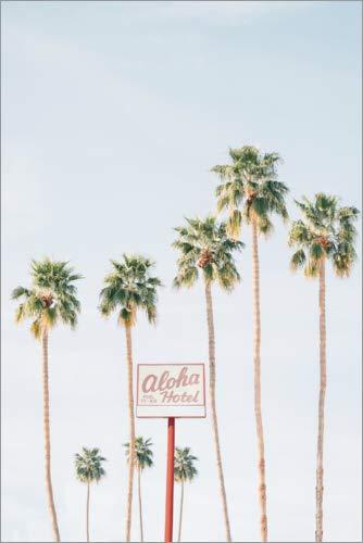 Poster 40 x 60 cm: Aloha Hotel von Sisi and SEB - hochwertiger Kunstdruck, neues Kunstposter