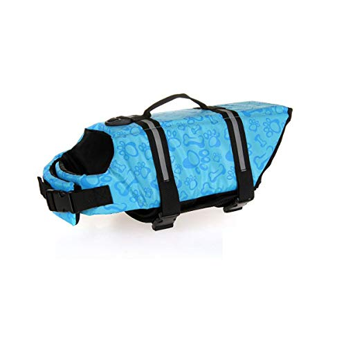 HENGXIANG huisdier hond badpak hond leven jas grote hond middelgrote hond kleine hond gouden haar samoyed veiligheid kleding hoge drijfvermogen garantie hond veiligheid, XS, Blauw