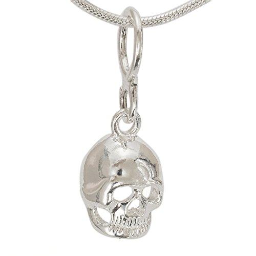 Sterlings Silber Anhänger Totenkopfmotiv aus Totenwelt - Totenschädel Totenkopf Schädel Kettenanhänger keltischer Silberschmuck #1246