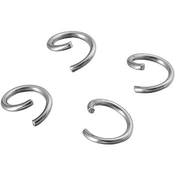 10 St/ück Silberfarben Biegeringe offen 8mm