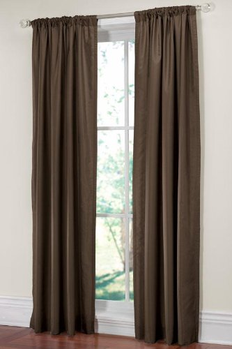 "Home Decorators Collection Martha Stewart Living153; Faux Silk Drapery Panel, 50""x84"", TILLED SOIL"