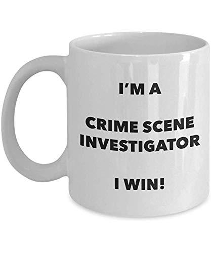 Ich bin eine Tatort-Forscher-Tasse,die ich gewinne!-Lustige Kaffeetasse-Neuheits-Geburtstags-Weihnachtsgag-Geschenk-Idee