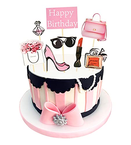 Regendeko Happy Birthday Lady Mädchen Kuchendekoration Cupcake Toppers Geburtstagskuchen Deko