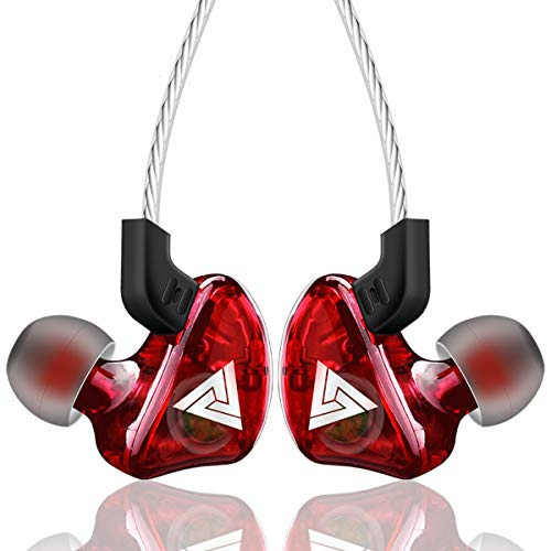 HaiQianXin Kopfhörer sport ohrhörer super bass in-ohr stereo kopfhörer für apple xiaomi samsung musik handy laufen headset dj mit hd mic (Color : Red)