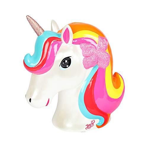 FABNY JoJo Siwa Unicorn Money Bank Ceramic Rainbow Glitter