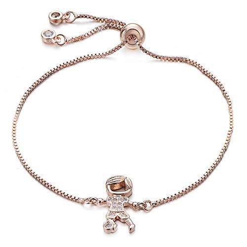 Jewellery Bracelets Bangle For Womens Lovely Brass Cubic Zirconia Dancing Girl Bracelet Adjustable Chain Boys And Girls Bracelets Women Jewelry Gift Rosegoldboy