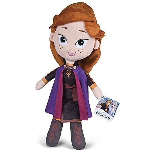 Grandi Giochi- Disney Frozen 2-Anna Peluche, 50 cm, Multicolore, GG01293