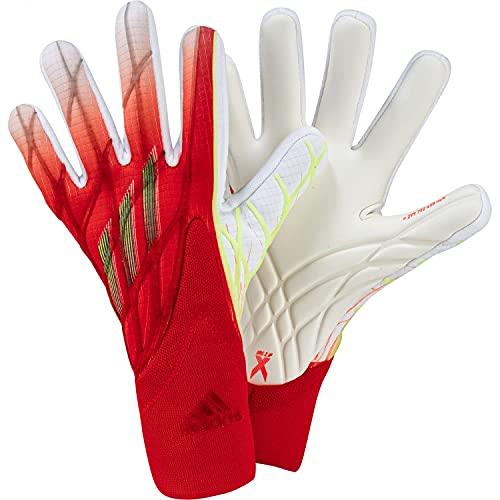adidas X GL Pro - Guanti da portiere, per adulti, unisex, rosso/bianco/rosso/nero, multicolore, 11