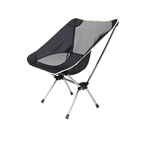 LJHA Tabouret pliable Tabouret extérieur extérieur pliant de chaise de plage de voyage de chaise noire 58 * 55 * 67cm chaise patchwork