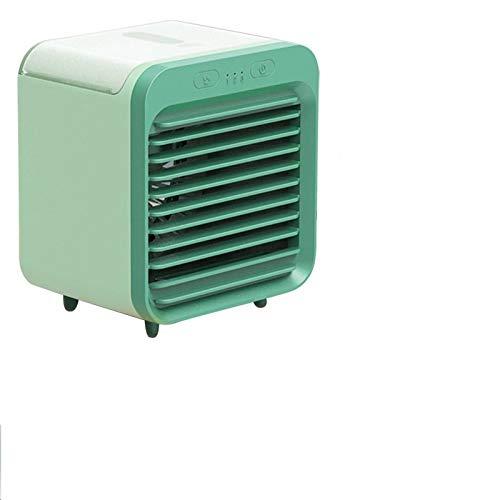 FSSQYLLX Ventilador Giratorio Mini USB Ventilador de Aire Acondicionado portátil Aire Acondicionado Luz de Escritorio Ventilador de refrigeración por Aire Humidificador Purificador