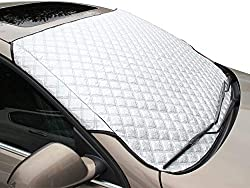 【Morning Time Saver】 -50°C low temperature resistance. The car screen frost cover prevents frost/snow/ice build up on the windshield in the winter. It certainly reduces the time spent scrapping ice or snow in the mornings. Give you a clear car front ...