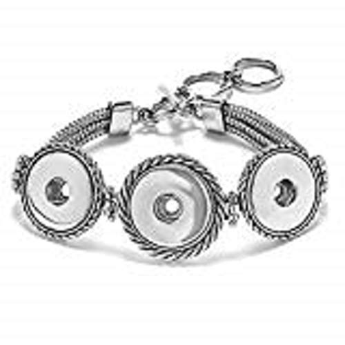 Ginger Snaps 3 - SNAP MULTI-CHAIN BRACELET SN90-19 Interchangeable Jewelry Snap Accessory