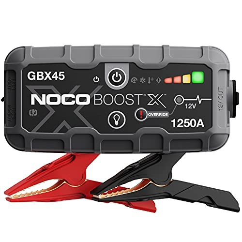 NOCO Boost X GBX45 1250A 12V UltraSafe Starthilfe, Tragbare Auto Batterie Booster, Powerbank-Ladegerät, Starthilfekabel und Überbrückungskabel für bis zu 6,5-Liter-Benzin- und 4,0-Liter-Dieselmotoren