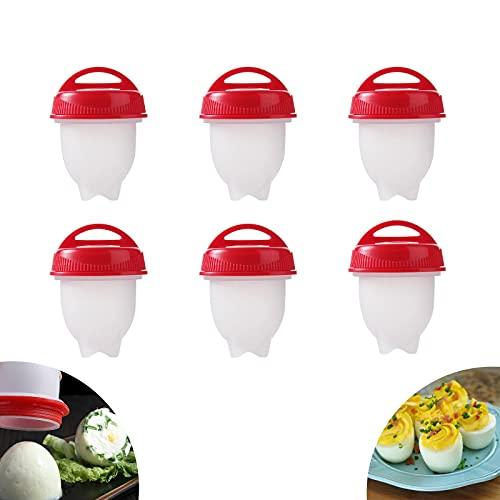 Cocina de huevos, caldera de huevos, cazador de huevos, antiadherente, huevos fáciles duros y suaves hacen 6 tazas de huevo