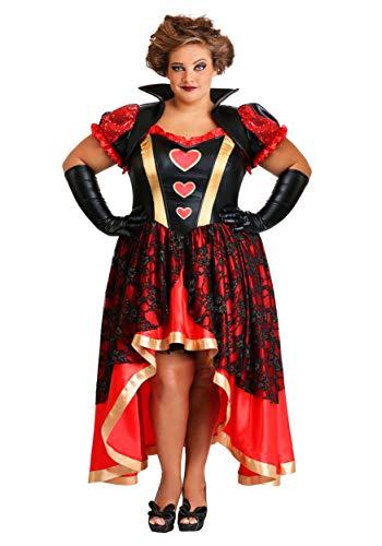 Women's Plus Size Dark Queen of Hearts Costume 5X