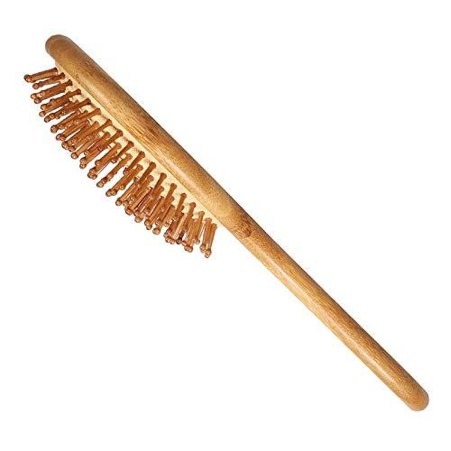 Bambou outil Pinceau cheveux bambou en bois 鬃peigne de massage pour prévenir la perte de cheveux Scalp Pellicules
