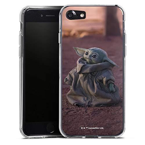 DeinDesign Silikon Hülle kompatibel mit Apple iPhone SE (2020) Case transparent Handyhülle Star Wars The Child Baby Yoda