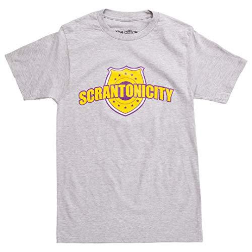 Ripple Junction The Office Scrantonicity Logo Adult T-Shirt - Heather Grey (X-Large)