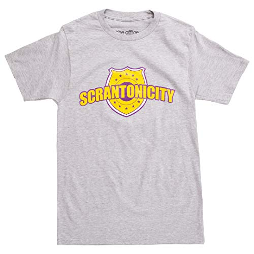 Ripple Junction The Office Scrantonicity Logo Adult T-Shirt - Heather Grey (X-Large)