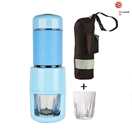 STARESSO Coffee Maker with Espresso, Cappuccino, Quick Cold Brew All in One (Sky Blue)