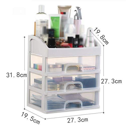 BOX Simple Multi-Couche Cosmétique Boîte de Rangement En Plastique Transparent Type de Tiroir Lipstick Bijoux Soins de La Peau Produits de Stockage D'Affichage Boîte (Taille: 34 × 24,5 × 39Cm),27,3 *