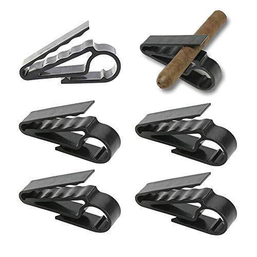 TXIN 6 Pack Portable Cigar Holder Golf Cart Cigar Clip for Golfers Men Women