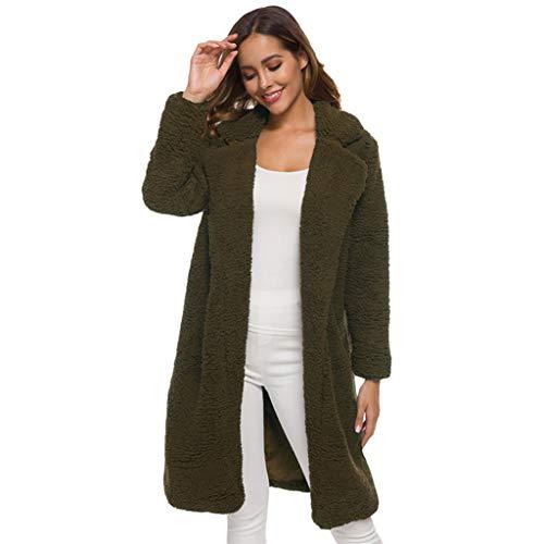Riou Cardigan Donna Invernale Lana Caldo Bavero Cappotto con Tasche Manica Lunga Cappotti Elegante Inverno Casual Moda Giubbotto Giacca