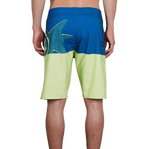 Volcom Lido Block Mod 21 Short de Bain pour Homme Bleu, Homme, Combinaison modèle Court, A0811818SHL, Citron Vert, 31