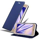 Cadorabo Funda Libro para LG X Power 2 en Classy Azul Oscuro - Cubierta Proteccíon con Cierre Magnético, Tarjetero y Función de Suporte - Etui Case Cover Carcasa