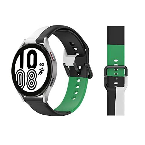 XOYZUU Correa de reloj inteligente de liberación rápida, correa de silicona deportiva impermeable, correa de reloj ajustable, correa de reloj transpirable, compatible con reloj Samsung Watch 4