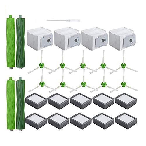 ZRNG En Forma for el reemplazo AD-Kit de Accesorios Aptos for la iRobot Roomba I7 I7 + / I7 Plus E5 E6 vacío Cleaner.Replacement el Juego de Piezas La instalación es Simple y fácil de Usar.