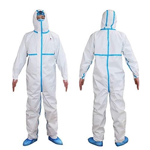 Chándal de protección categoría III nivel 2 (ICU) tipo 3, 4, 5, 6 – Impermeable para entornos médicos y hospitalarios – Color blanco – Talla XL ✅