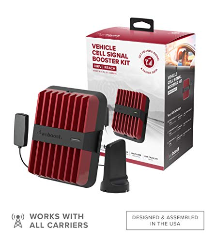 weBoost Drive Reach (470154) Cell Phone Signal Booster for Your Car, Truck, Van, or SUV - Verizon, AT&T, T-Mobile, Sprint - Enhance Your Cell Phone Signal Across North America
