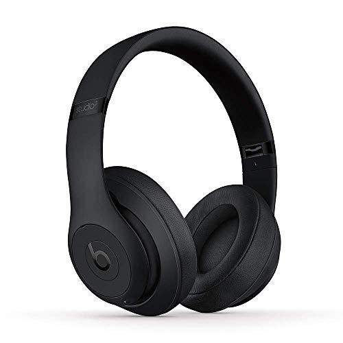 BeatsStudio3Wireless con cancelación de ruido - Auriculares supraaurales - Chip Apple W1, Bluetooth de Clase1, 22horas de sonido ininterrumpido - Negro mate (Reacondicionado)