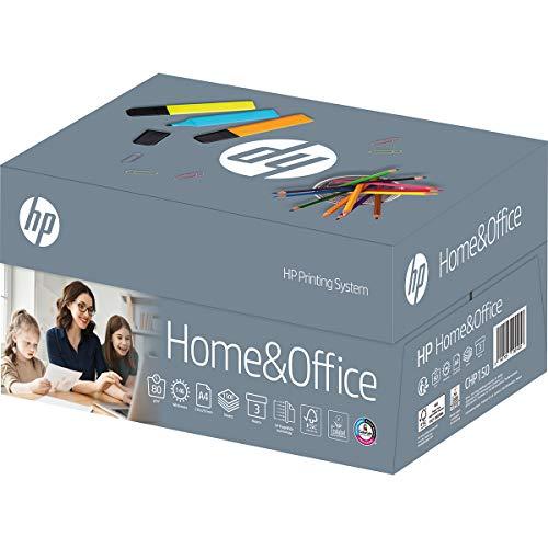 HP Papel de impresora CHP150 para casa y oficina TrioBox: A4 80 g, 1500 hojas (3 x 500) – Papel para fotocopiadora para casa y oficina