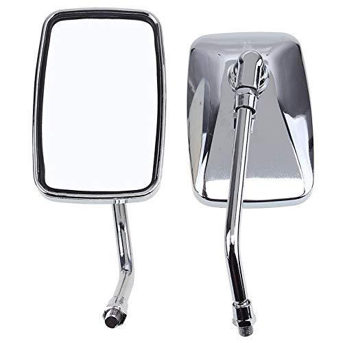 WNJAGUL Carcasa del Espejo retrovisor del Coche 10 mm Espejo de la Motocicleta Barra de la manija cromada sLadoUniversal de laScooter de Motocross