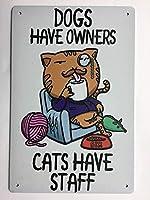 レトロおかしい金属錫サイン8 x 12インチ(20 * 30 cm)子猫 ブリキ看板警告通知パブクラブカフェホームレストラン壁の装飾アートサインポスター(gs-1-98)