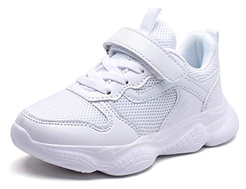 Mitudidi Mädchen HallenschuheSportschuhe Laufschuhe Unisex Atmungsaktiv rutschfest Leicht Turnschuhe Sneaker Basketball Schuhe für Outdoor 37