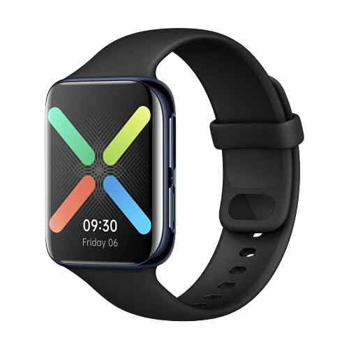 OPPO Watch Montre connectée 46 mm Noir Écran incurvé AMOLED, GPS, NFC, Bluetooth 4.2, WiFi, Wear OS by Google, Fonction de Charge Rapide VOOC