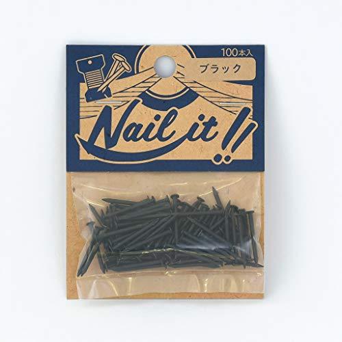 若井産業(Wakaisangyou) Nail it!!(ネイルイット)ストリングアート 釘 袋入 ブラック 釘のサイズ 長さ:19mm 太さ:#17(約Φ1.47mm) 100本 NF10026