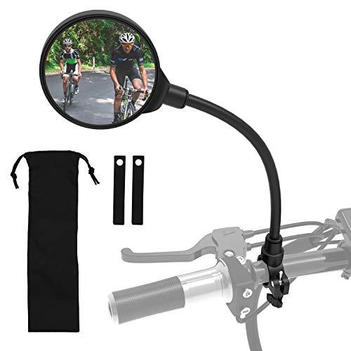 ROYOR Wide Angle Bike Mirror 360° Adjustable Rotatable Bicycle Mirror Bicycle Mirrors for Handlebars Bike Mirror Handlebar Mount for Electric Bike Mountain Bike and Road Bike