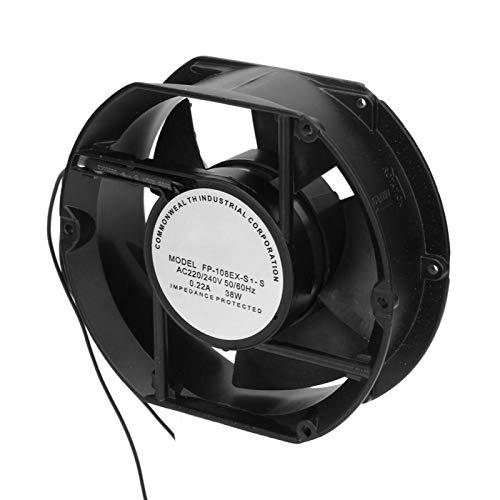 Ventilador Axial AC220V AC de bajo ruido y bajo consumo de energía y disipación de calor, ventilador axial, para puerta de ventilación de refrigeración DIY