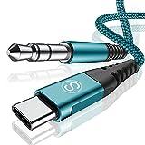 Sweguard - Cable auxiliar USB C a conector jack de 3,5 mm para Huawei P30 Pro, P40 Pro, P20, Mate 30, Mate 20, Samsung Galaxy Note10/S20, Xiaomi, auriculares, estéreos, etc.