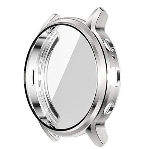 POPETPOP Smart Watch Tpu Bumper Case Capa de Armação Protetora Shell à Prova de Choque Anti Scratch Smartwatch Protetor de Tela Compatível para Gen Fossil 5 The Carlyle Hr (Prata)