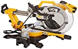JCB Tools - 12' Sliding Double Bevel 120V Miter Chop Saw Power Tool | Electric Powered Saw | For Home Improvements, Straight Crosscuts, Bevel, Angled Cuts, Floor Boards, Wood, Woodworking and Laminate
