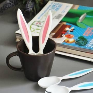 Rabbit Ears Baby-Löffel Und Gabel Set Kindergeschirr Kinderbesteck