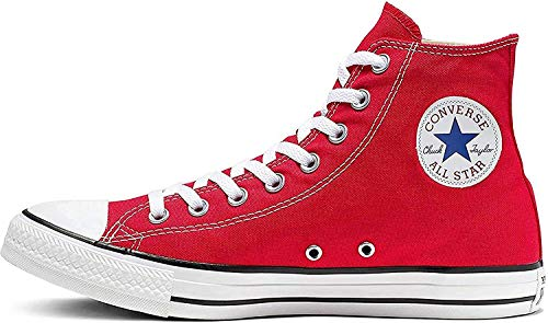 Converse Chuck Taylor All Star Hi Top, Zapatillas Unisex Adulto, Rojo (Red),...