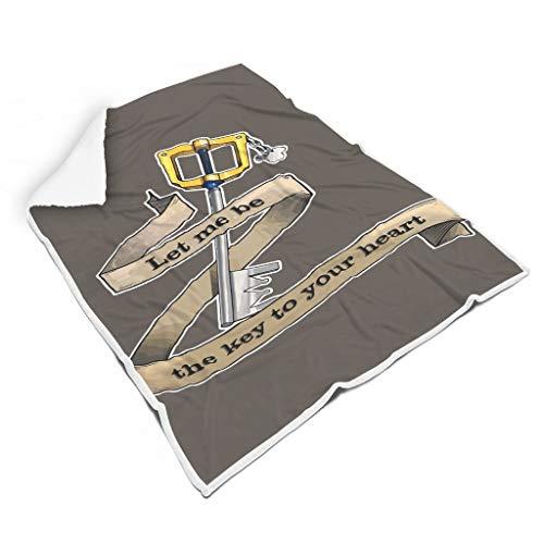 YxueSond Lass Mich der Schlüssel zu deinem Herzen Sein Microfaser Vlies Decke Sofa Chair Bed Office White 150x200cm