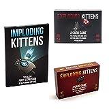 GKJ Explosion Kitty, Juegos De Mesa Y De Cartas, Versión Inglesa De Juegos De Mesa Multicolores para Familias, hasta 10 Jugadores